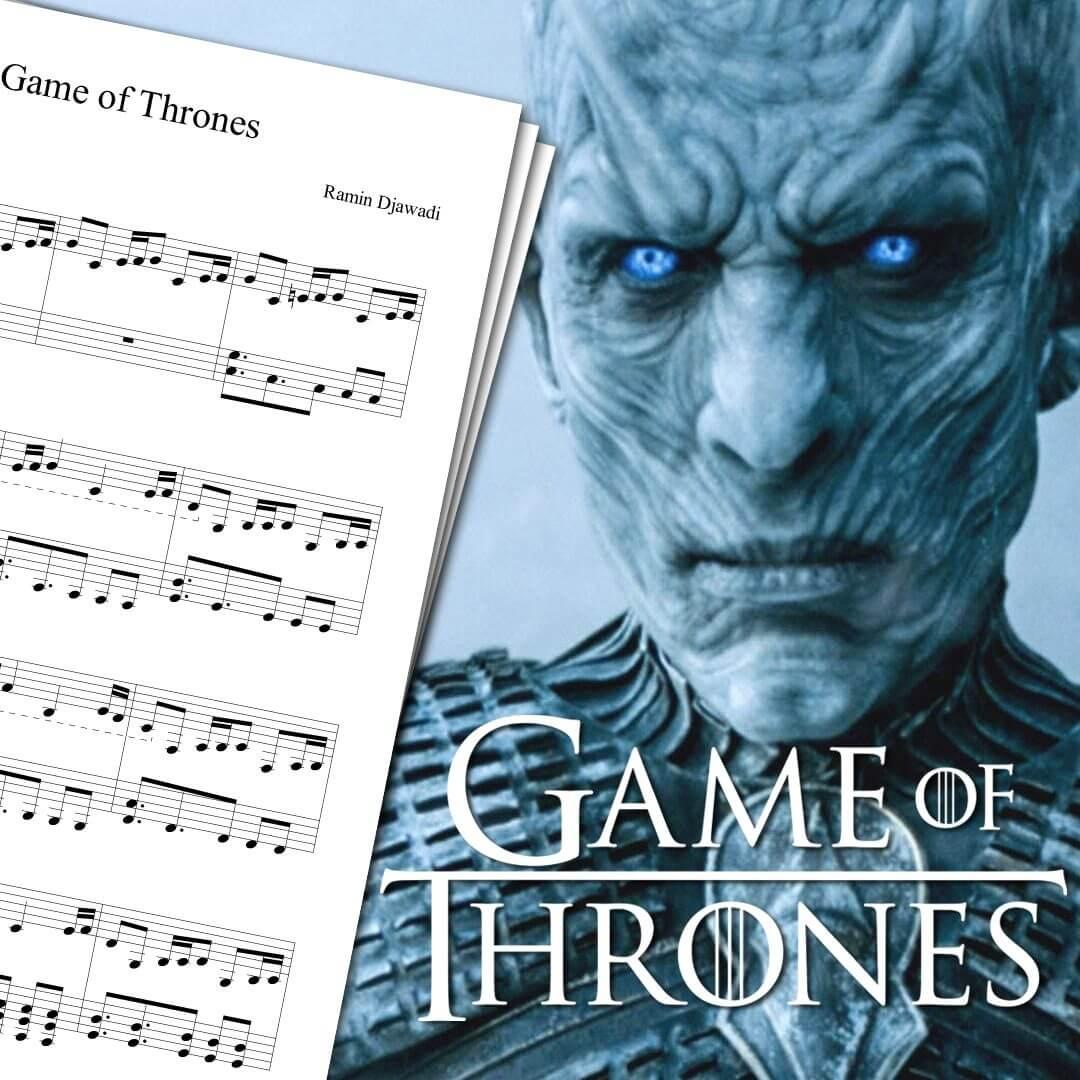 Game Of Thrones Titelmusik Klaviernoten game of thrones theme sheet music