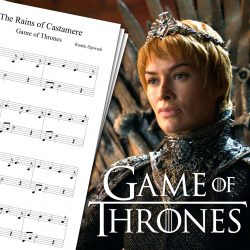 Partition de The Rains of Castamere